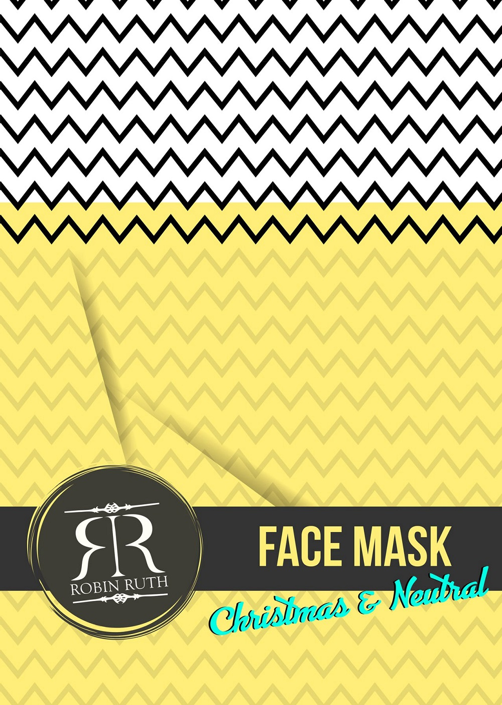 robin ruth face mask christmas logo
